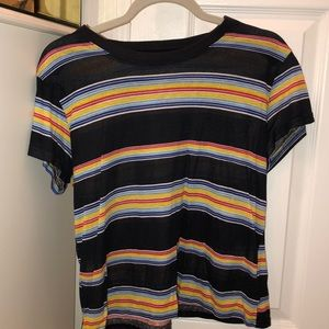 Urban Outfitters Rainbow Striped Tshirt